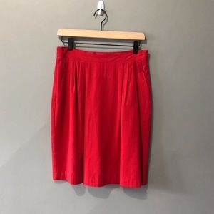 vintage retro 70s red skirt with elastic waist